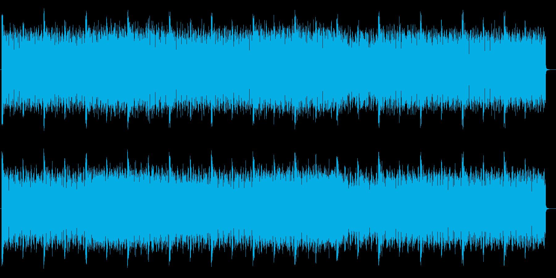 躍動感ある不思議なテクノサウンドの再生済みの波形