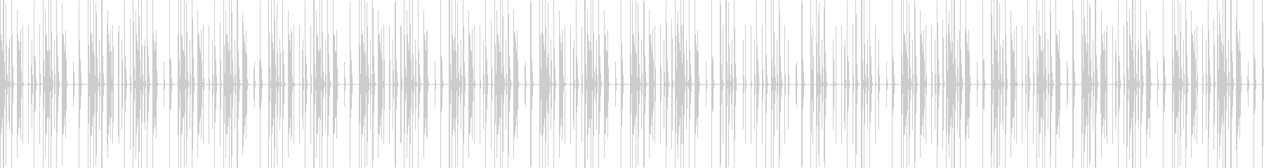 エレクトロニック 無機質なリズムループの未再生の波形