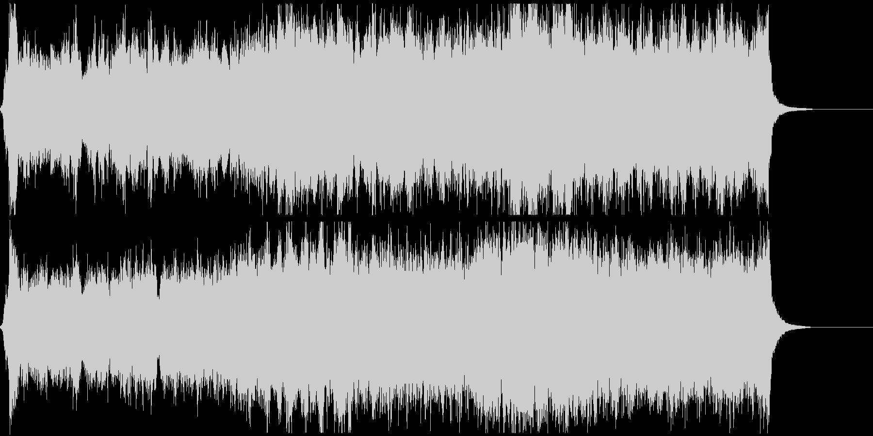 ゲームのオープニング等に、雄大な曲の未再生の波形