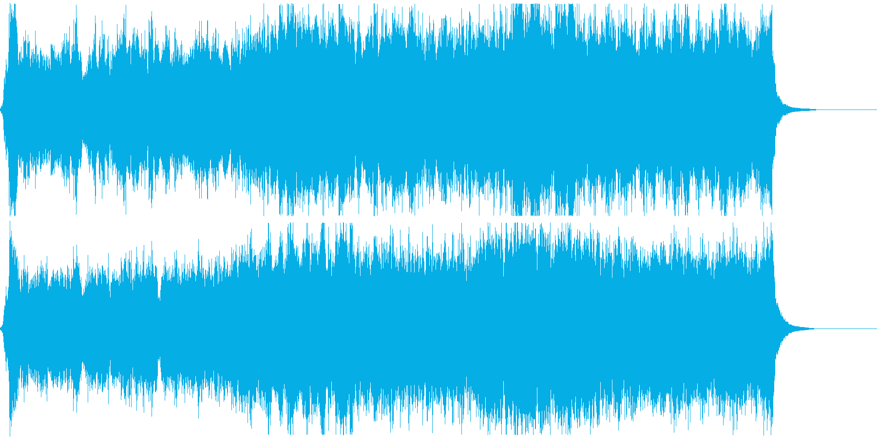 ゲームのオープニング等に、雄大な曲の再生済みの波形
