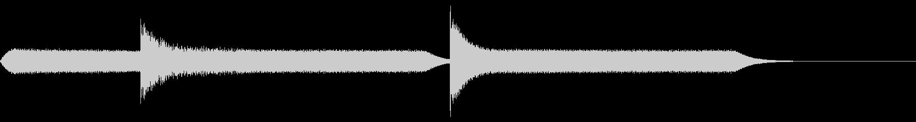 ネオンライトバズの未再生の波形