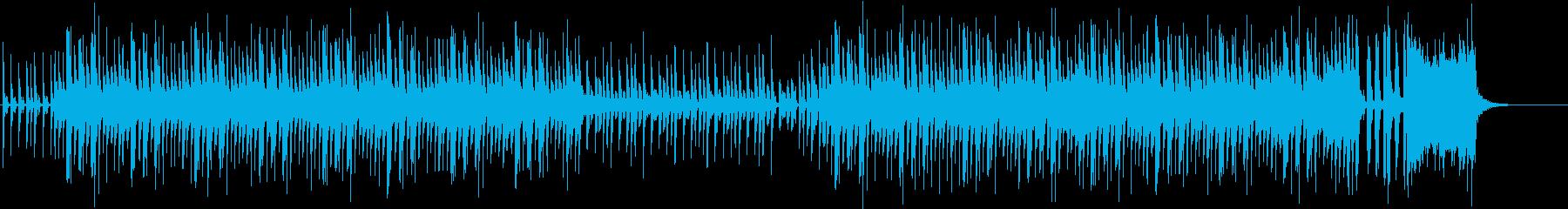 ブラスとピアノのノリのいいスネア四つ打ちの再生済みの波形