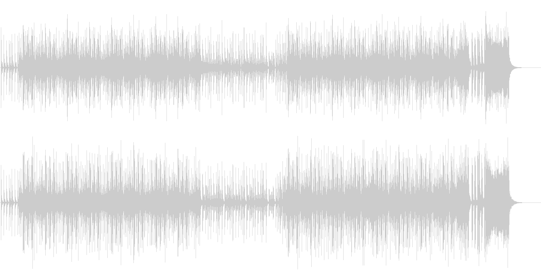 ブラスとピアノのノリのいいスネア四つ打ちの未再生の波形