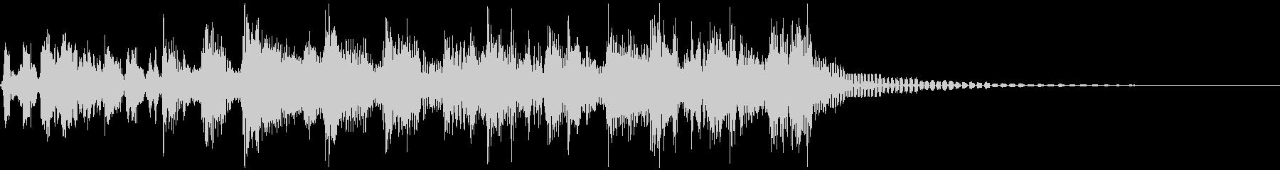 ラジオジングル、ファンク、スクラッチの未再生の波形