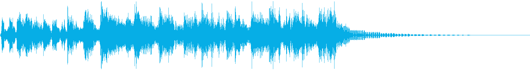 ラジオジングル、ファンク、スクラッチの再生済みの波形