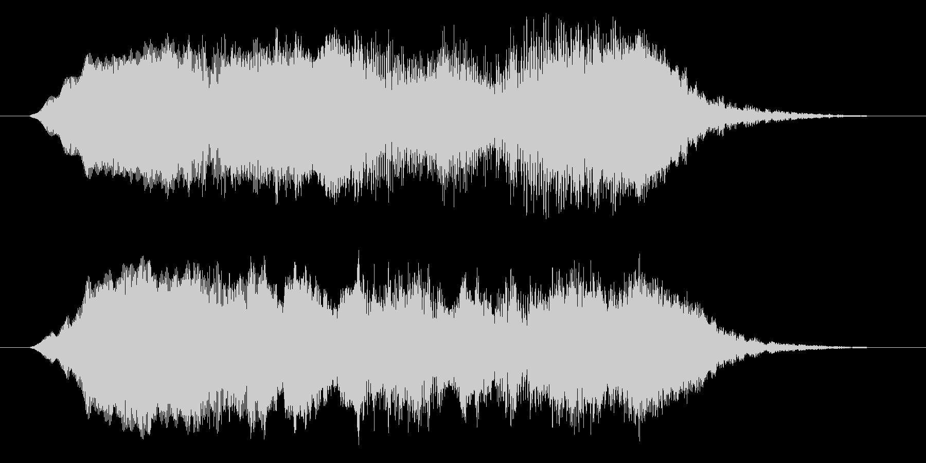 ホラー効果音 違和感 異変 不思議 奇妙の未再生の波形