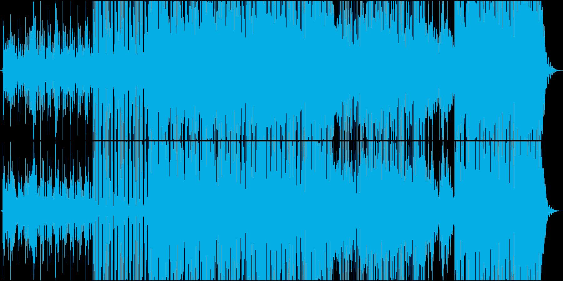 琴のメロディがエスニックな楽曲/メロ無しの再生済みの波形
