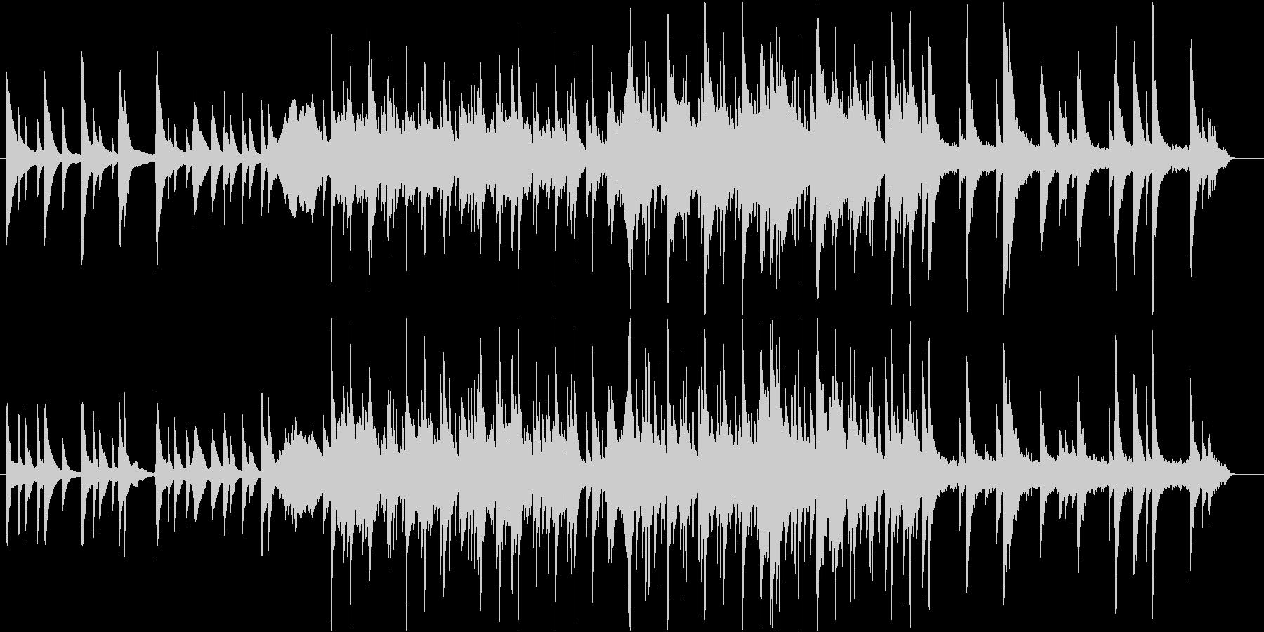 ピアノを主とした浮遊感のあるBGMの未再生の波形