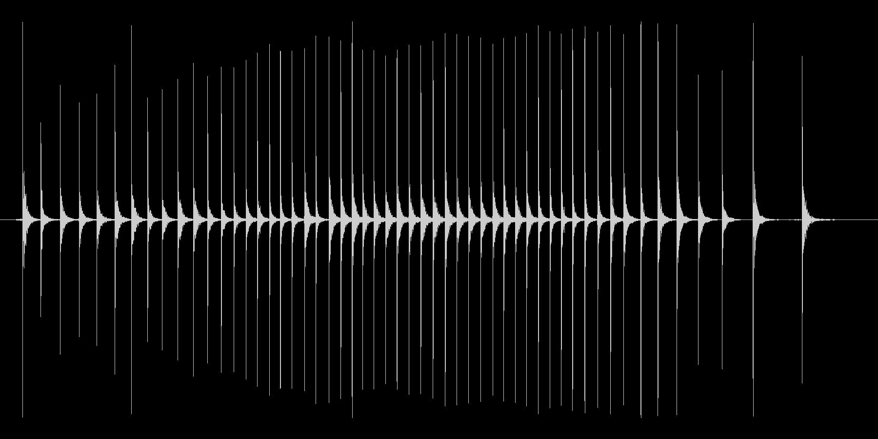 包丁トントントン まな板の上でみじん切りの未再生の波形