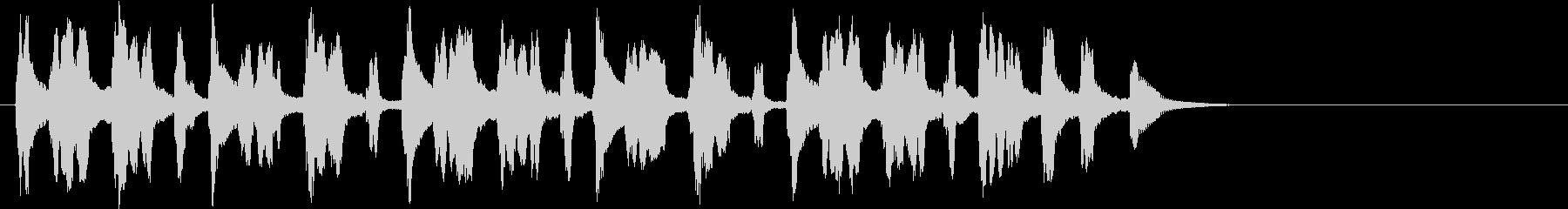 コミカルな電子音のBGM ジングルにもの未再生の波形