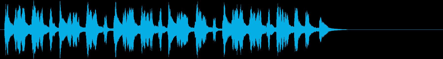 コミカルな電子音のBGM ジングルにもの再生済みの波形