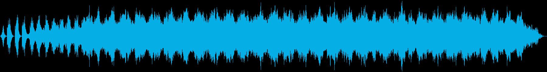 ヒーリング向けの安らかなアンビエントの再生済みの波形