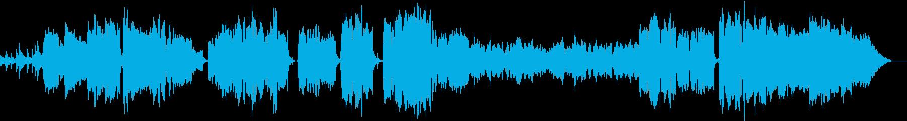 ゆったりとした雰囲気の雅な和風の音楽の再生済みの波形