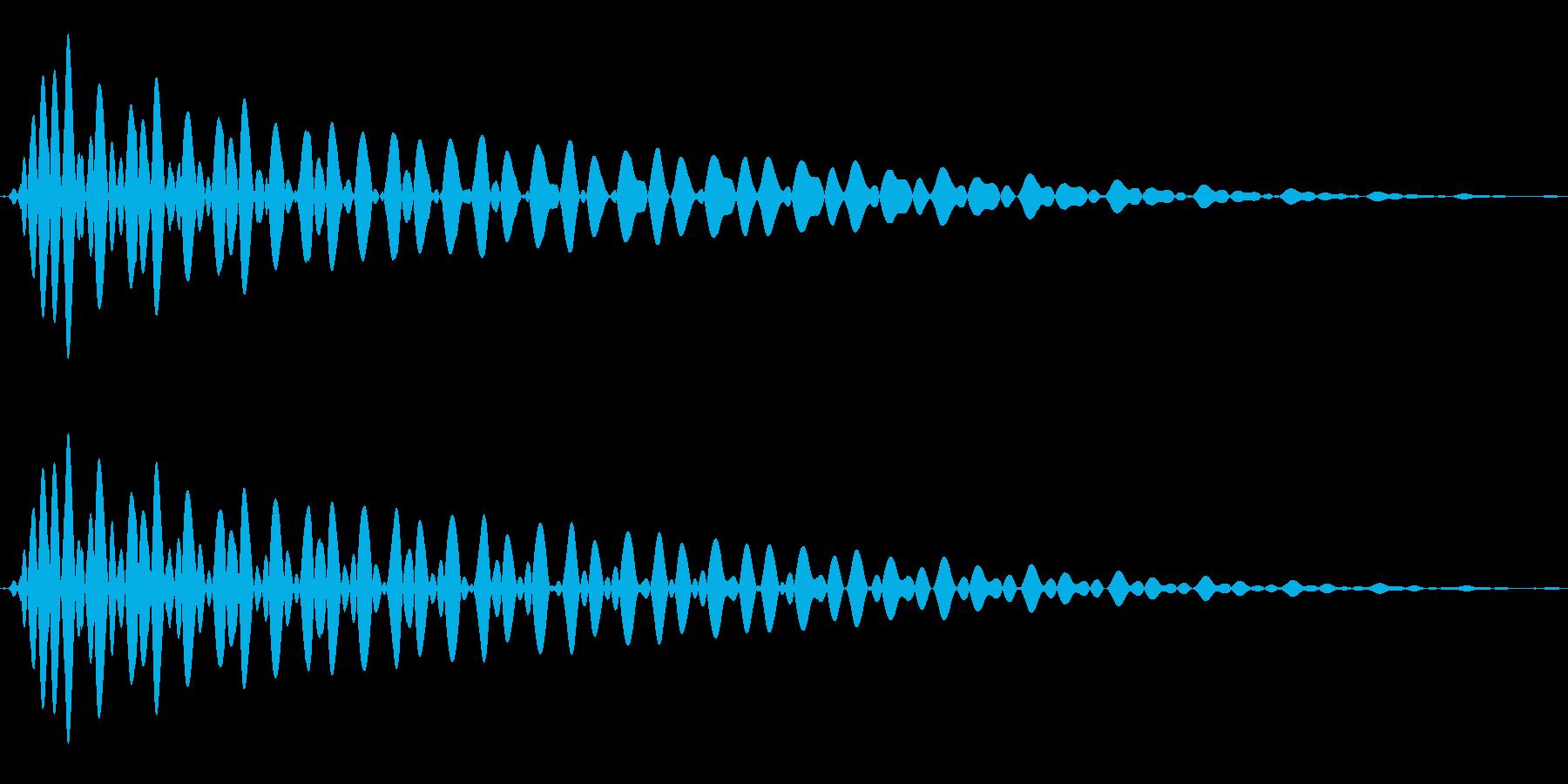 PureTouch アプリ用タッチ音63の再生済みの波形