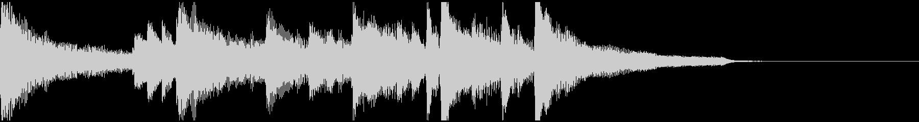 都会的なジャズピアノのジングルの未再生の波形