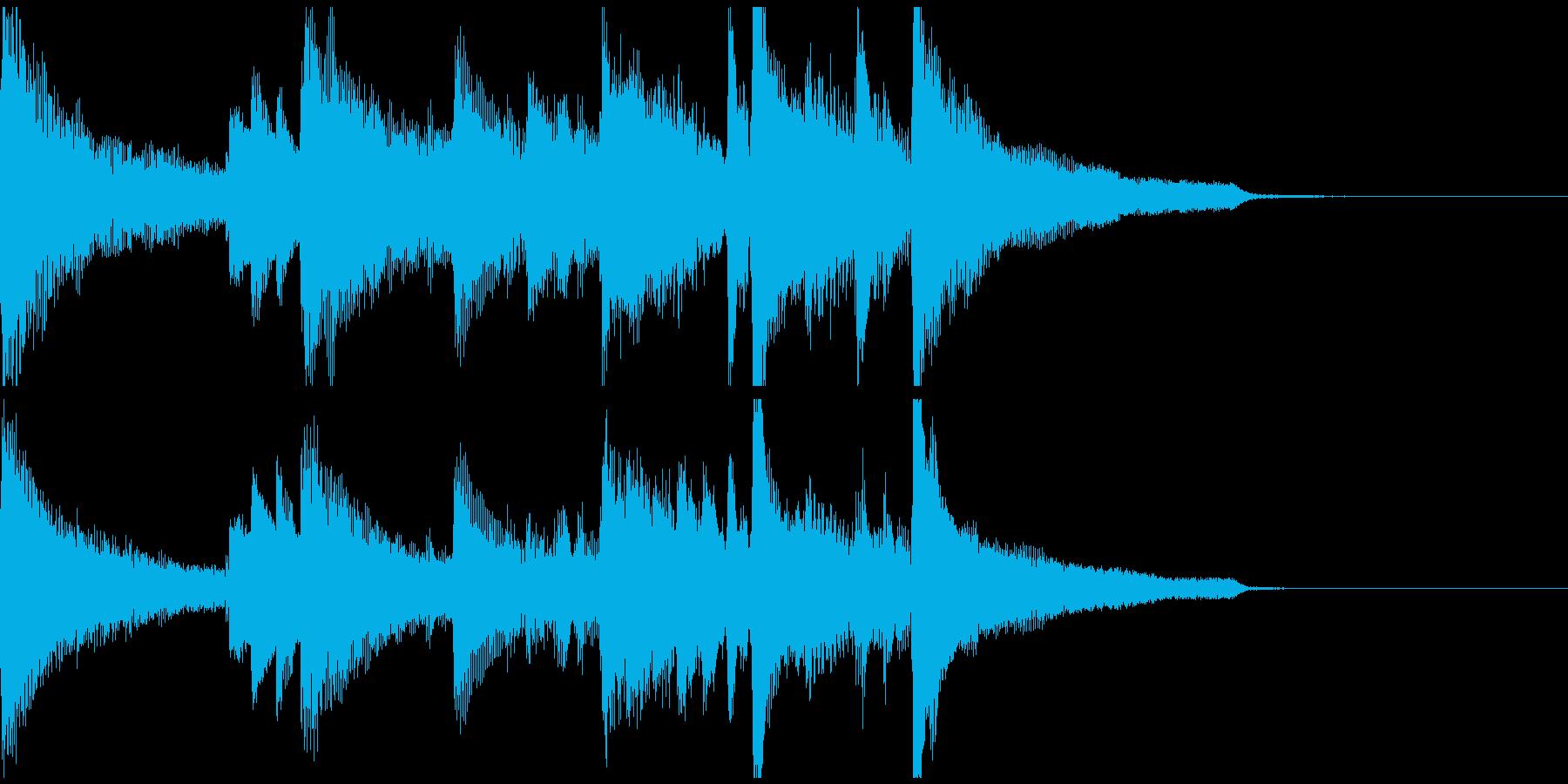 都会的なジャズピアノのジングルの再生済みの波形