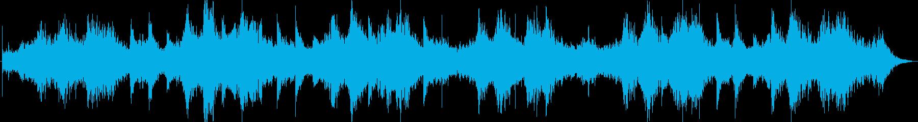 幻想的なシンセサイザーのヒーリング曲の再生済みの波形