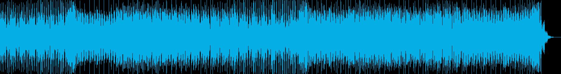 疾走感あふれるテクノ曲の再生済みの波形