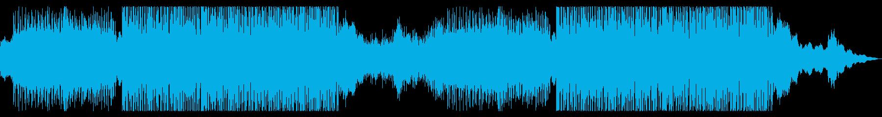 疾走感があるスタイリッシュな曲の再生済みの波形