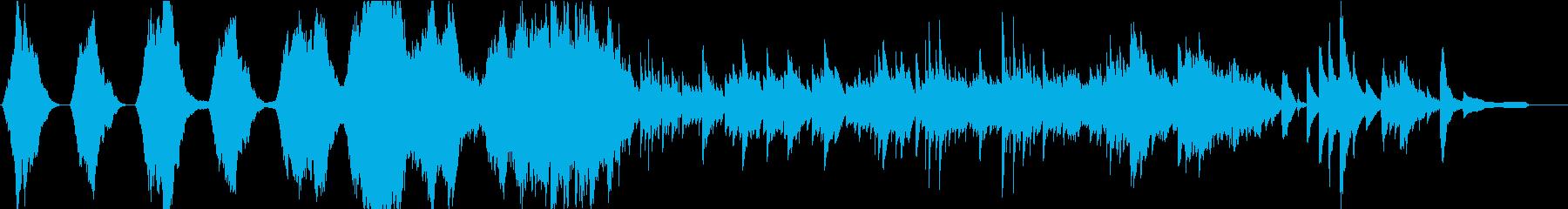 暗くて悲壮感のあるBGMの再生済みの波形