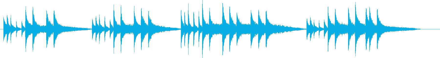静かな曲の再生済みの波形