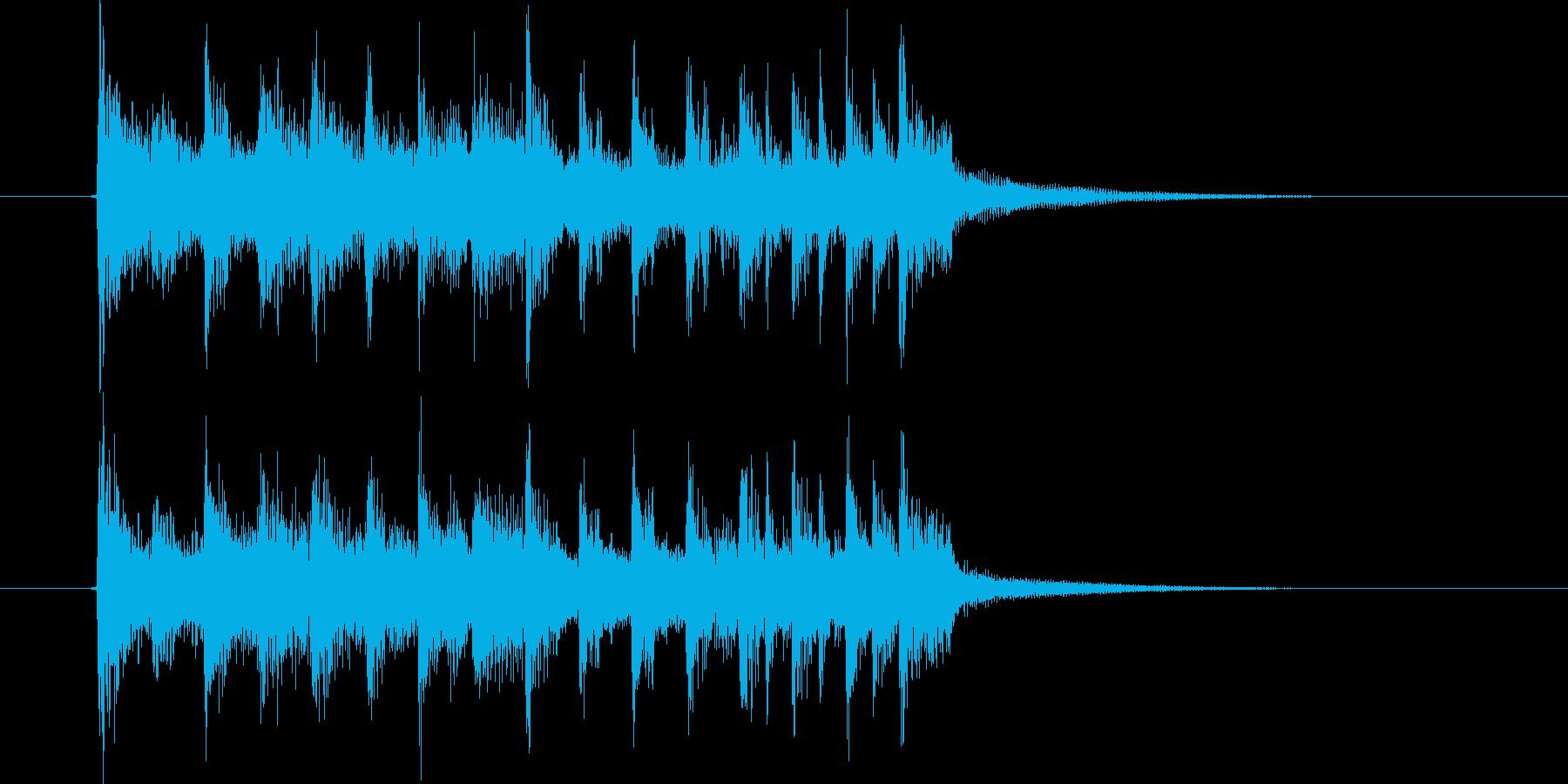 シックなドラムとエレクトーンによるBGMの再生済みの波形