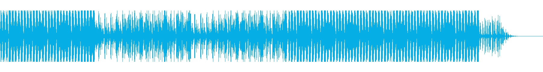 カッティングギターファンクBGMの再生済みの波形