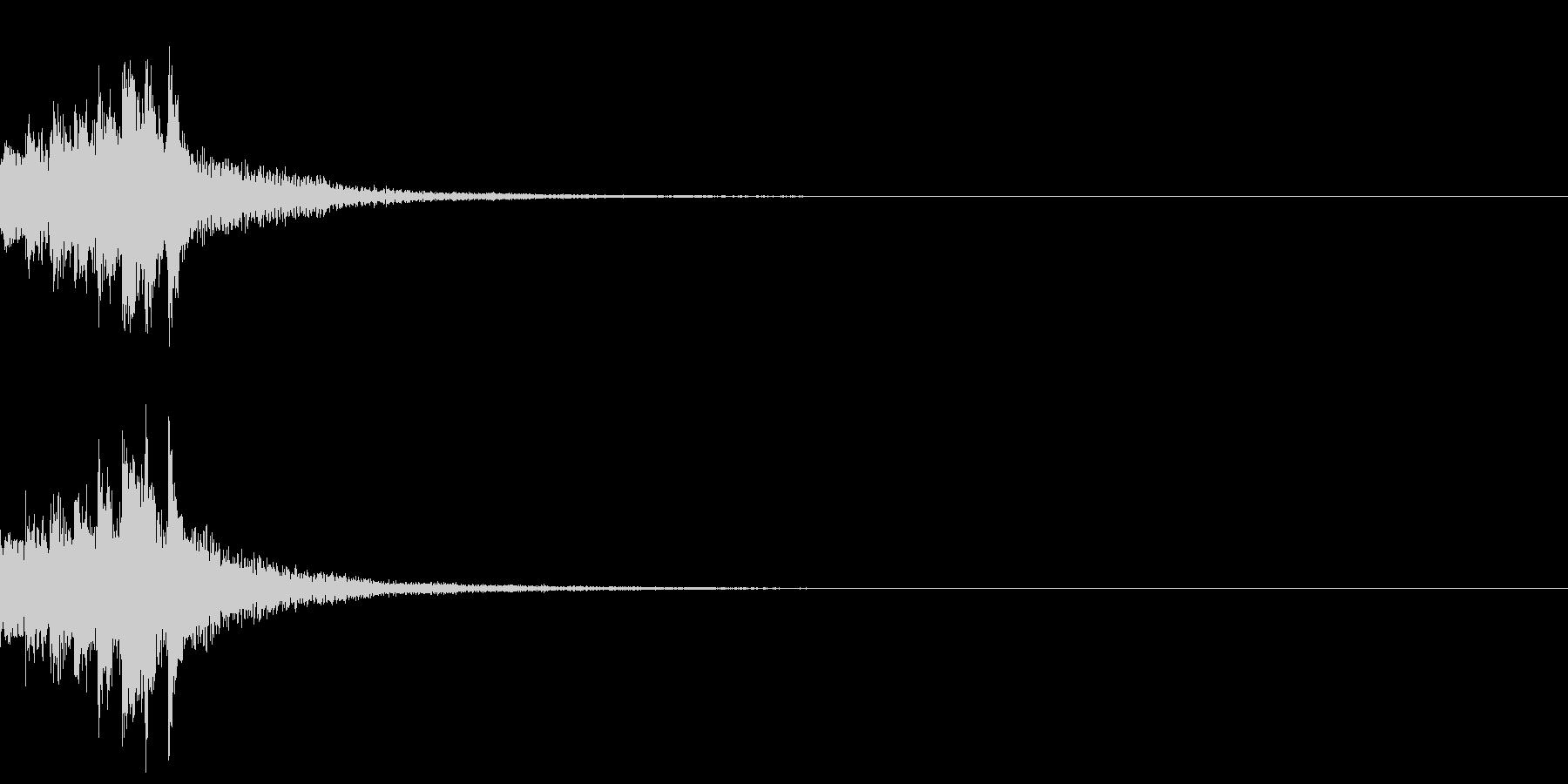 琴による速い上昇音型の未再生の波形