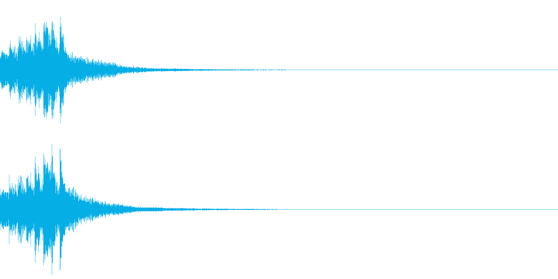 琴による速い上昇音型の再生済みの波形