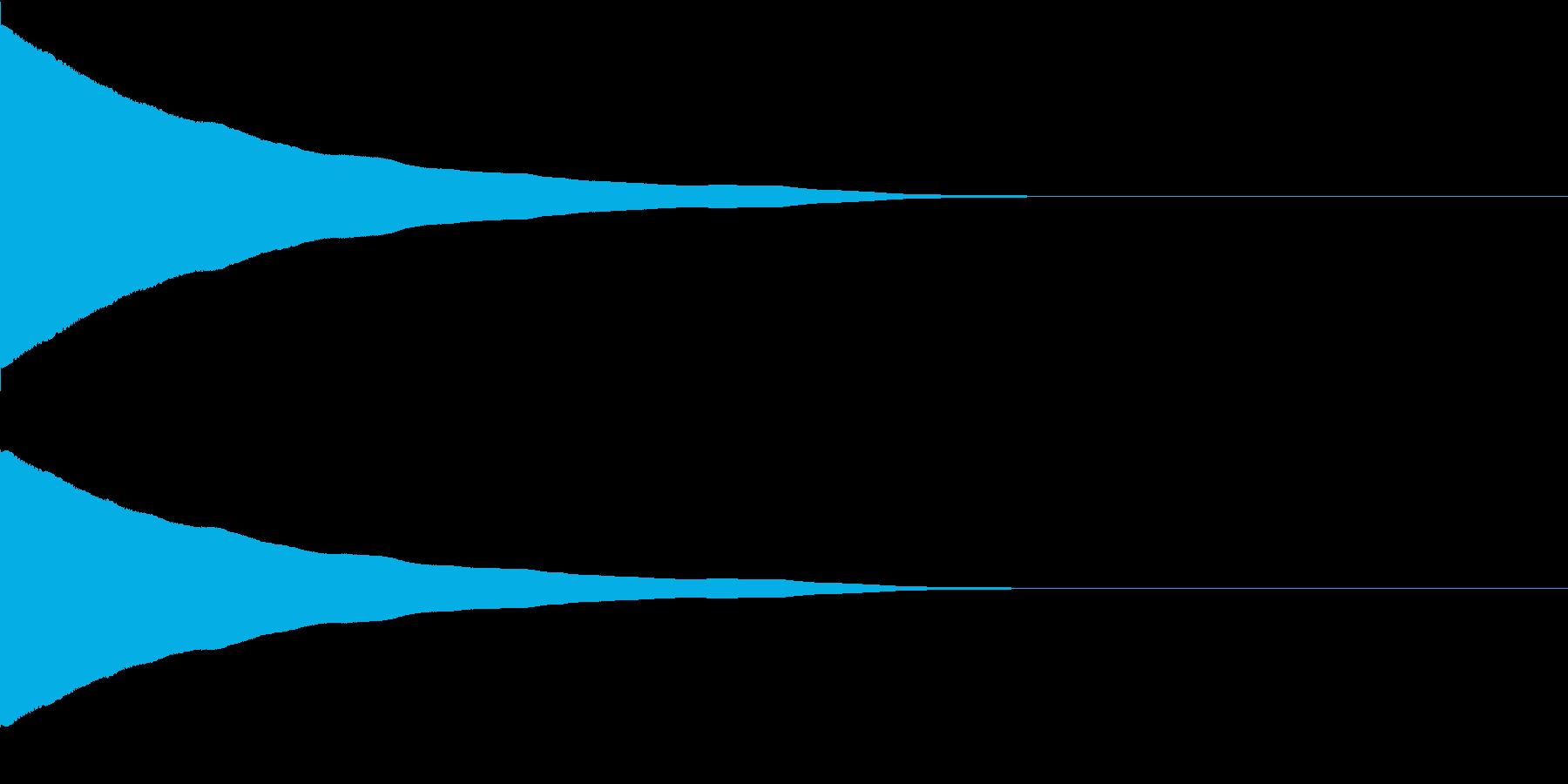 ポワワワーン(目が回る音)の再生済みの波形