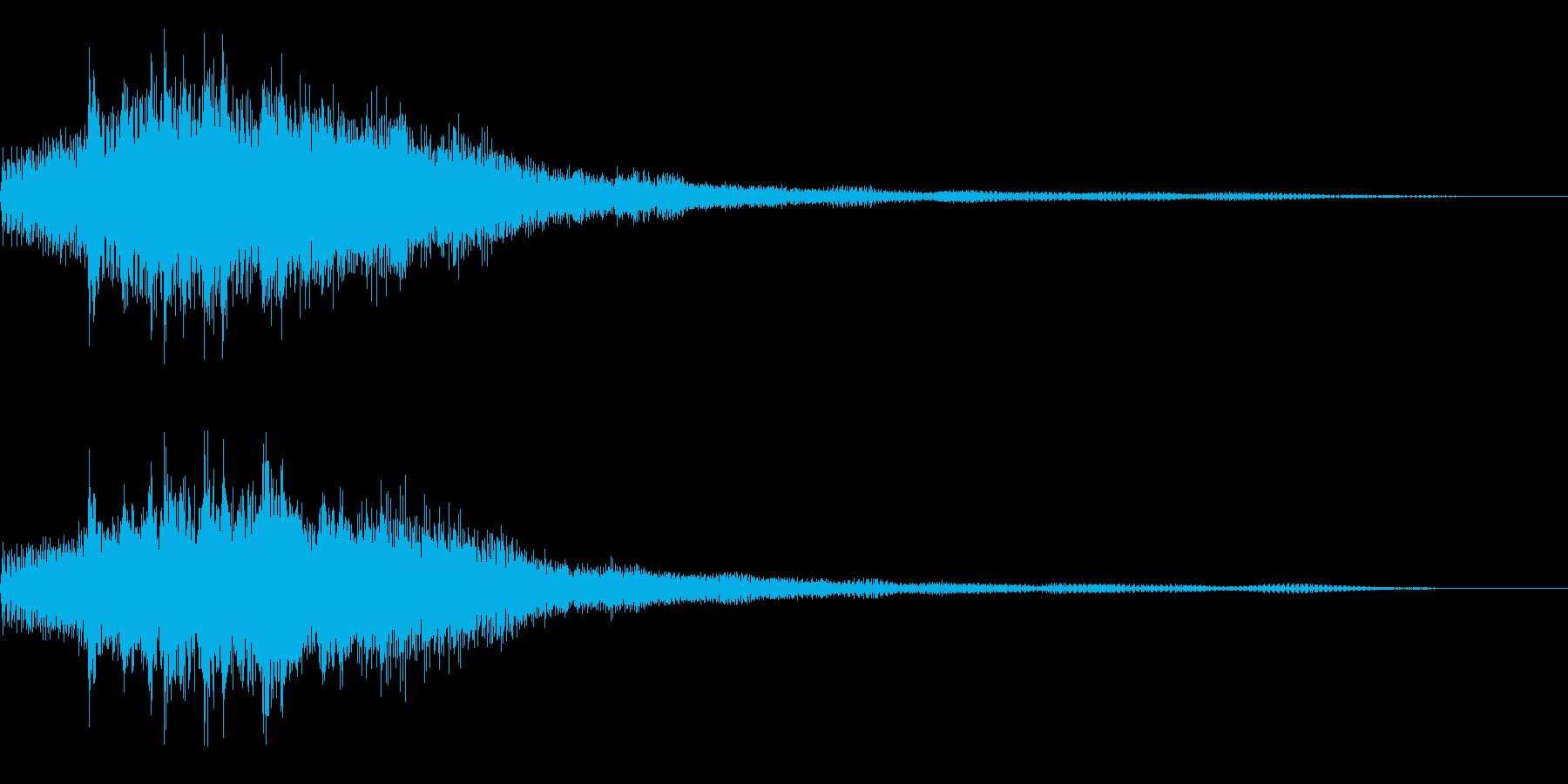 ゲーム機の起動音風サウンドロゴ・ジングルの再生済みの波形