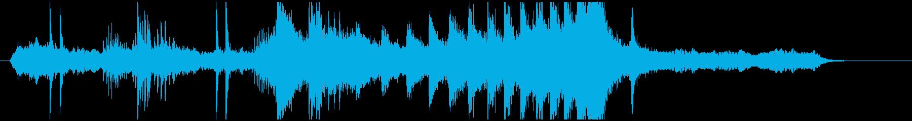 鬼気迫る映画のトレーラーをイメージの再生済みの波形