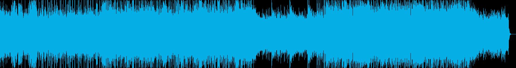 スラップベースとエレキ、ブルースロックの再生済みの波形