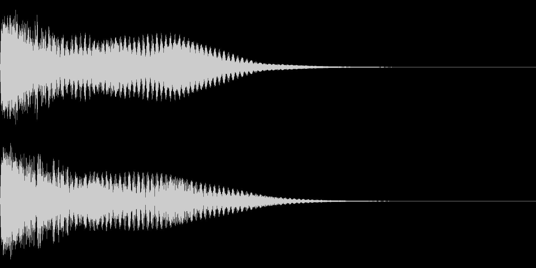 キュイン ボタン ピキーン キーン 24の未再生の波形