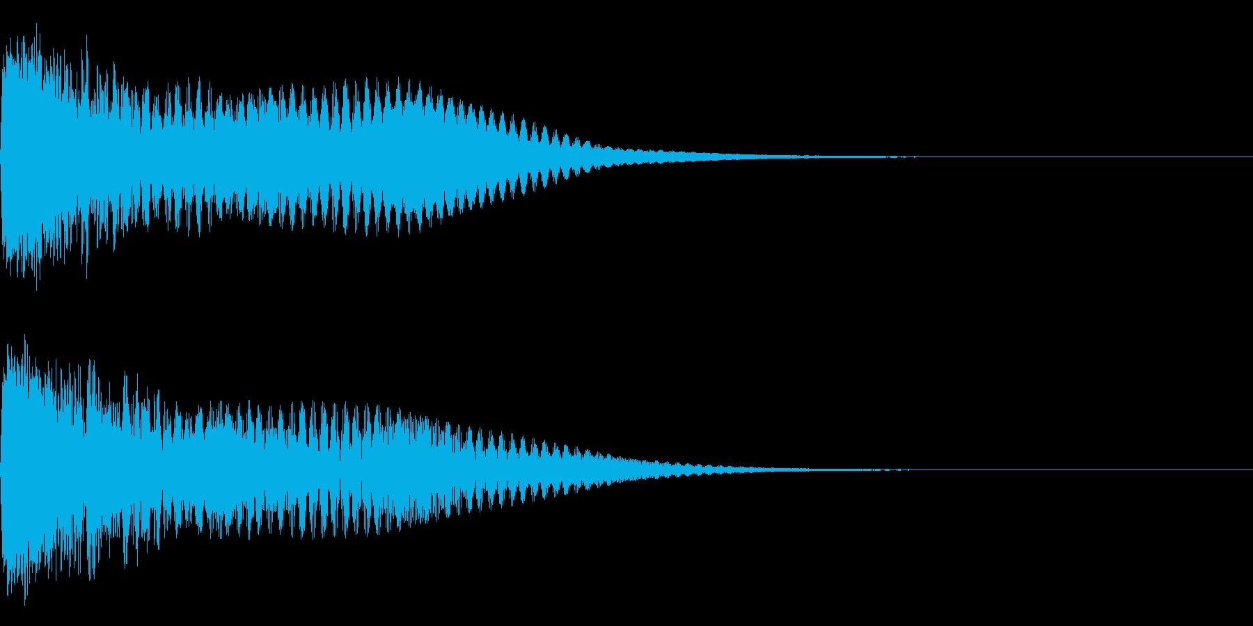 キュイン ボタン ピキーン キーン 24の再生済みの波形