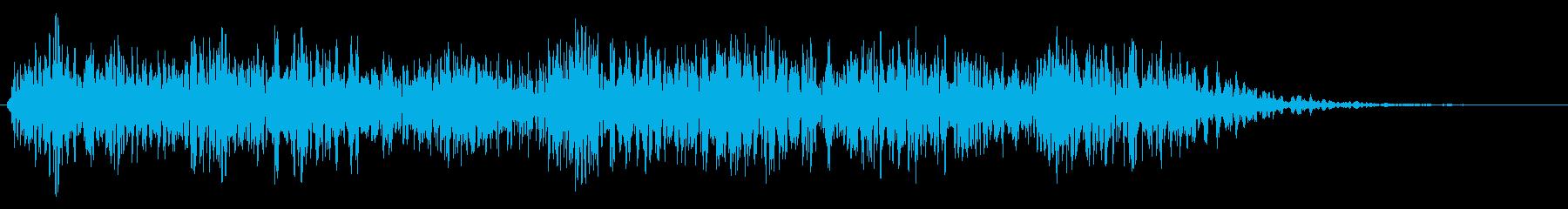宇宙人の話し声の再生済みの波形
