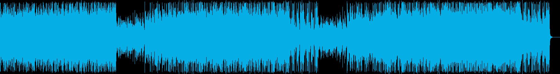 強敵と戦うシーンにぴったりのバトルBGMの再生済みの波形