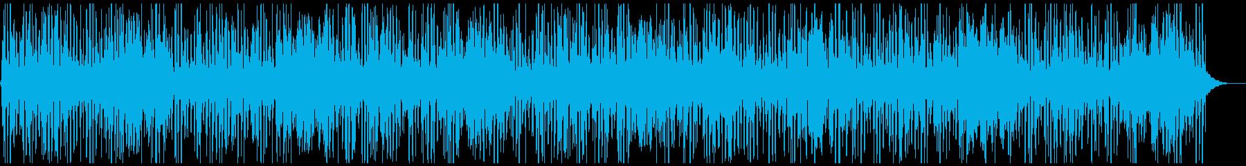 電子機器などをイメージした背景音の再生済みの波形