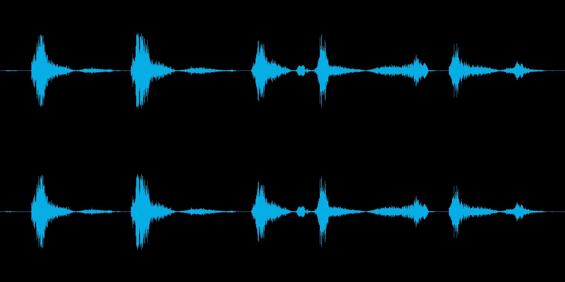 (咳の音)の再生済みの波形
