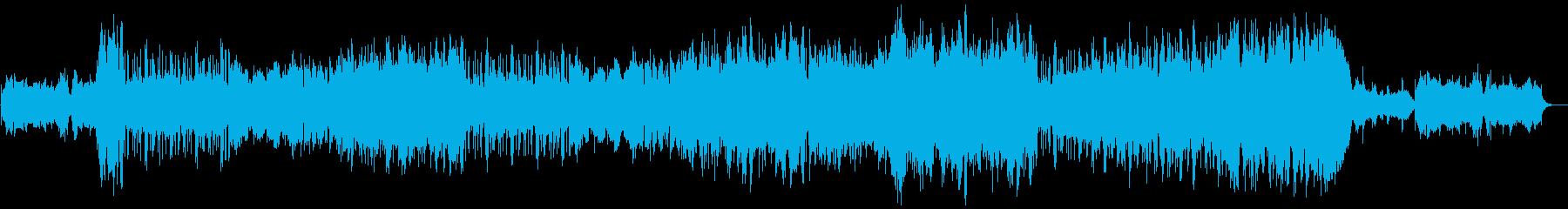 アップテンポで少し憂いを含んだの篠笛の曲の再生済みの波形