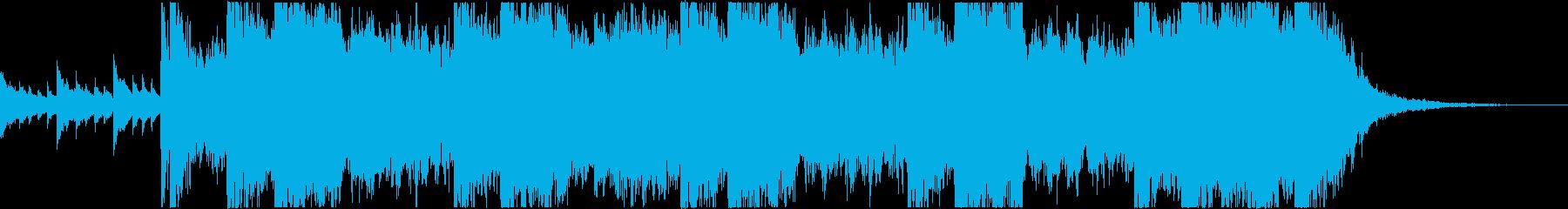 和風 歴史 壮大な曲の再生済みの波形