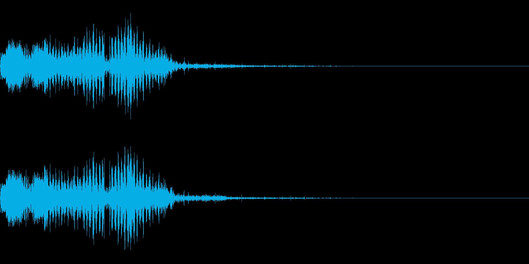 スパーク音-36の再生済みの波形
