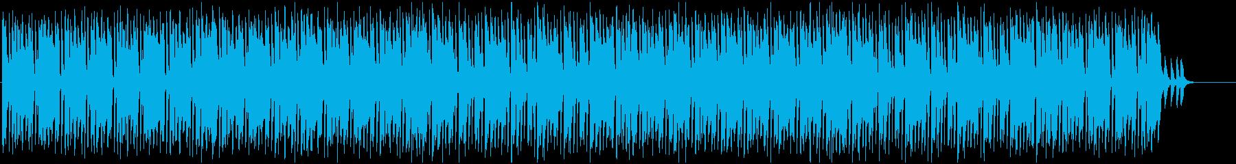 お洒落でリッチな雰囲気あるメロディーの再生済みの波形