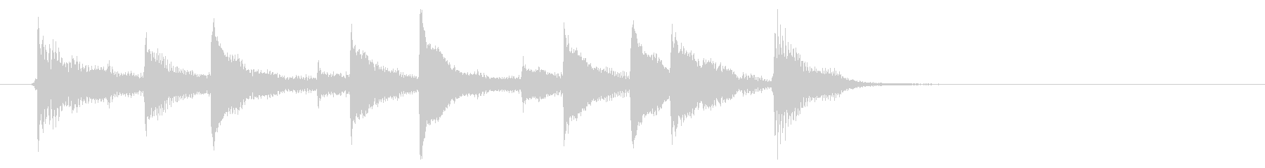 【生演奏】バンジョーのハワイアンジングルの未再生の波形