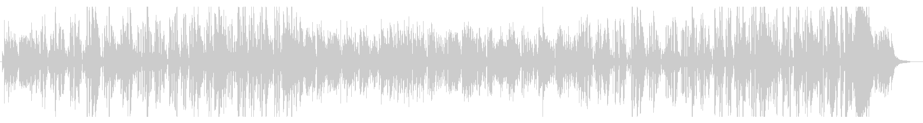 ジングルベルおしゃれなプロジャズシンガーの未再生の波形