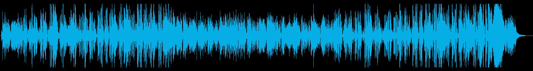 ジングルベルおしゃれなプロジャズシンガーの再生済みの波形