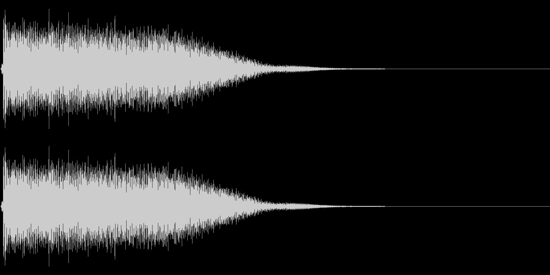 【生録音】ステンレス・スプーンの音 3の未再生の波形