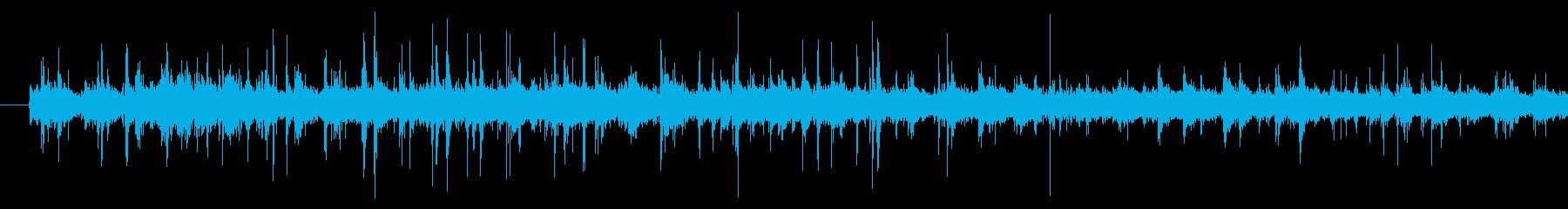 馬車の蹄の音の再生済みの波形