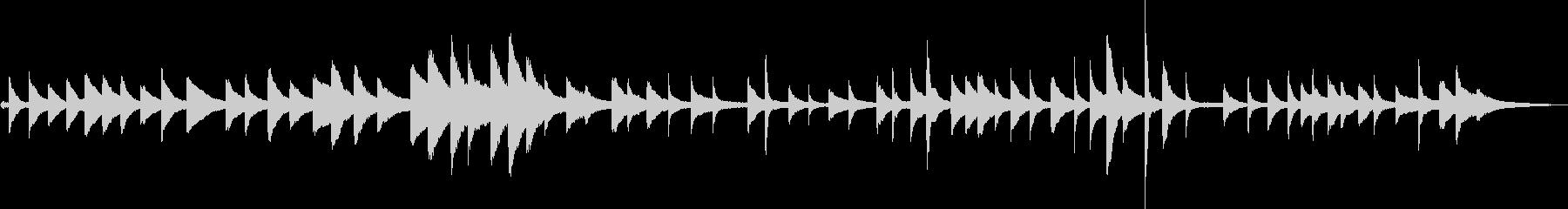 得体の知れない恐怖(ピアノ)の未再生の波形
