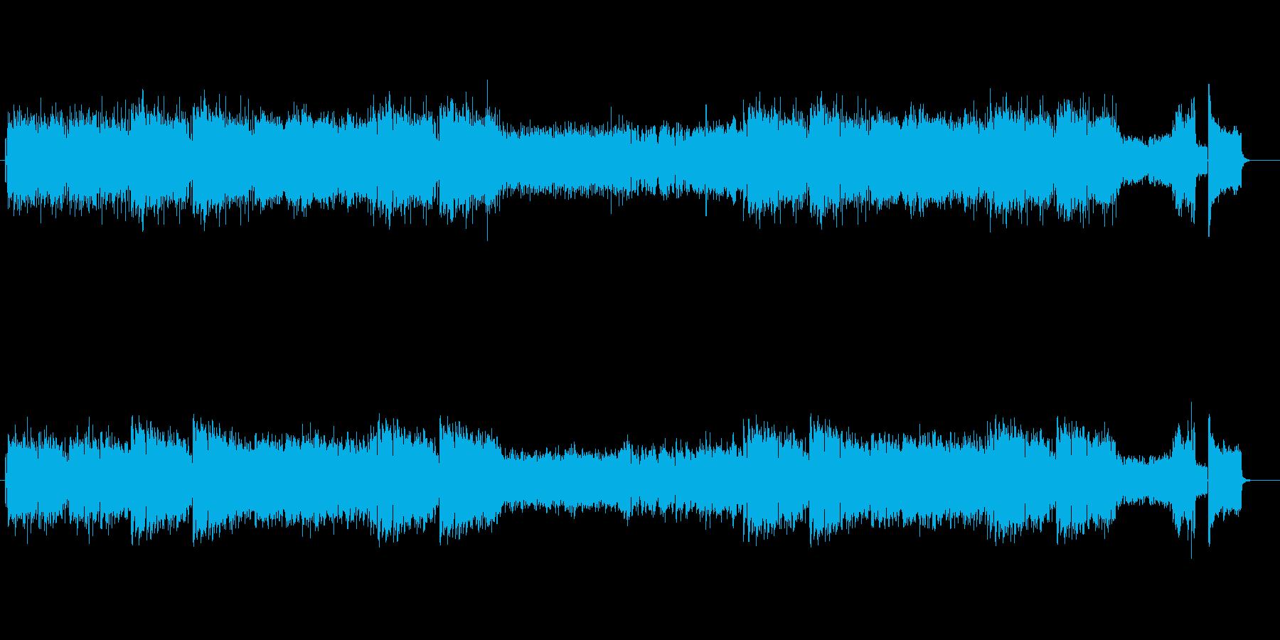 ミュートトランペットの軽快なジャズ曲の再生済みの波形
